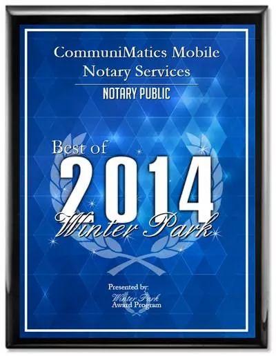 Notary Award